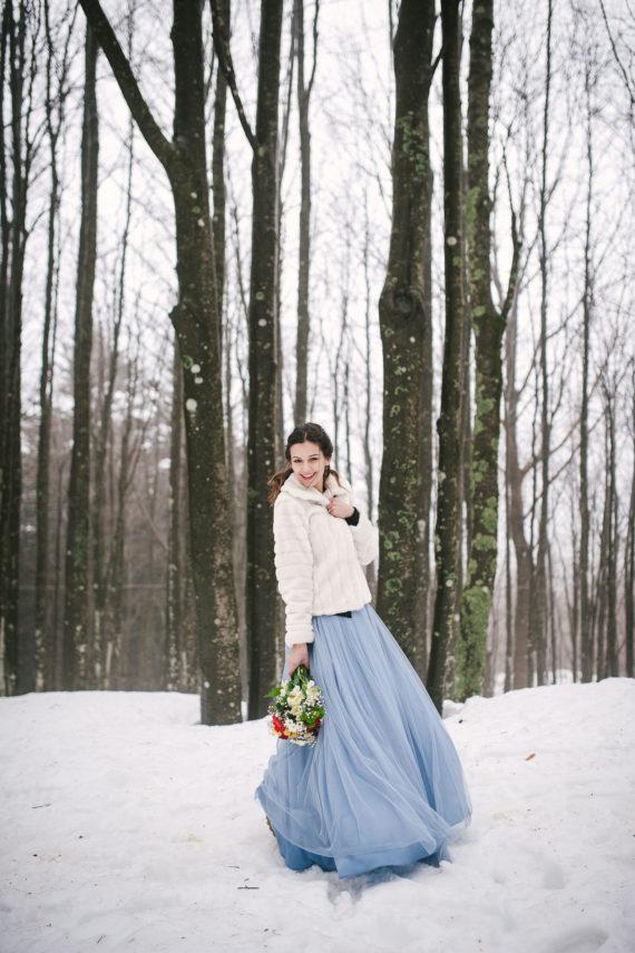 servizio prematrimoniale invernale sulla neve