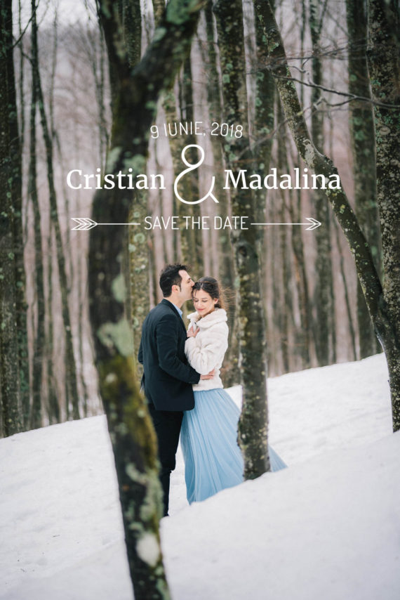 engagement session invernale sulla neve